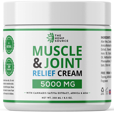 UK Hemp Muscle Joint Relief Cream 5000MG Natural Hemp Extract with MSM Arnica Menthol Highest Strength Hemp Oil Formulation Back pain uk hemp shop
