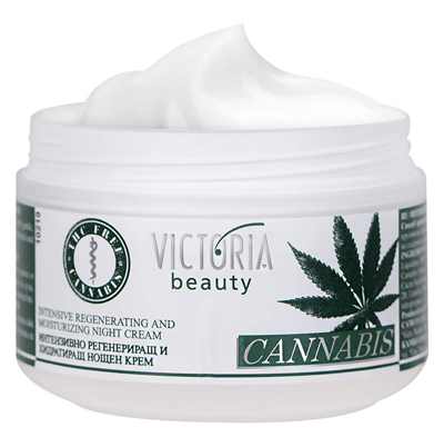 hemp skin care Cannabis Extract Night Face Cream Natural Intensive Cream with Hemp Oil for Deep Nourishment Super Moisturiser for Sensitive Ski